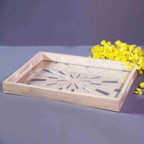 Mosaic Rectangular Wooden Tray