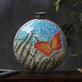 Mosaic Metal Vase