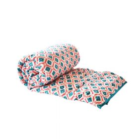 Green Jaipuri Block Print Quilt