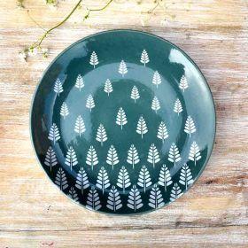 Springtime Green Ceramic Plate