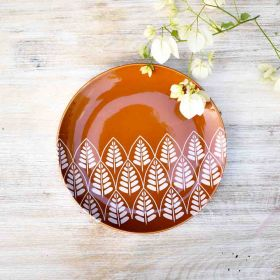 Rustic Orange Ceramic Plate