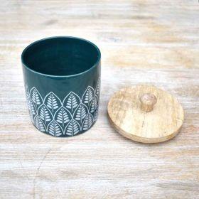 Springtime Green Ceramic Canister