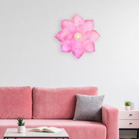 Fuschia Orchid Iron Floral Wall Art Large