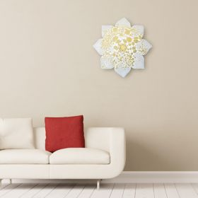 Ice Mist Iron Floral Wall Art