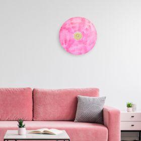 Fuschia Orchid Iron Disc Wall Art