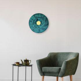 Bottle Green Iron Disc Wall Art