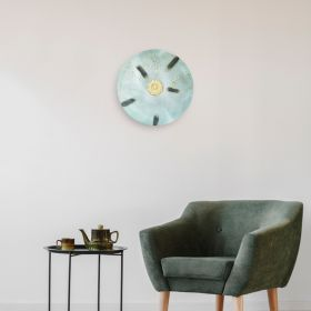 Mint Green Iron Disc Wall Art