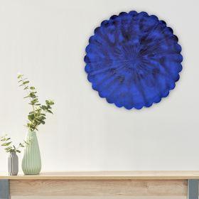 Antonia Blue Iron Disc Wall Art
