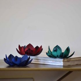 Iron Lotus Tealight Holder