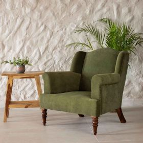 Olive Green Armchair