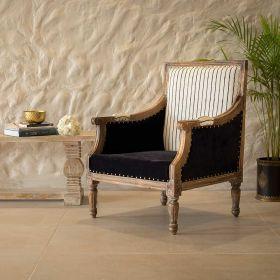 Black Bergere Chair