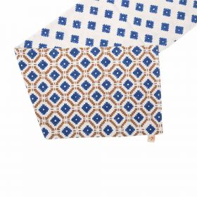 Blue Block Print Table Runner