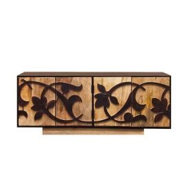 Mango Wood Carved Tv Unit