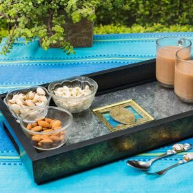 Serving Tray with Stone Veneer