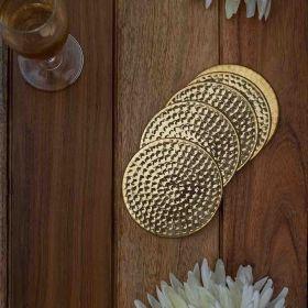 Aurelia Brass Coasters (Set of 6)