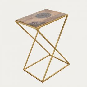 Cross Legs Wooden End Table