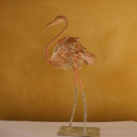 Iron Flamingo Figurine