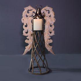 Angel Iron Candle Holder