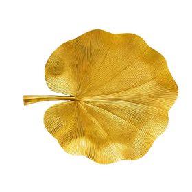 Golden Lotus Leaf Decorative Tray