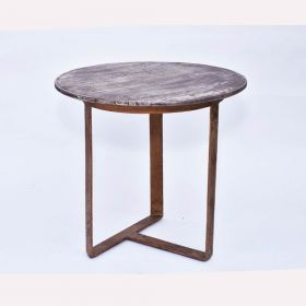 Purple Bleach Wood Top Side Table