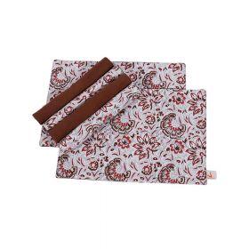 Floral Hand Block Print Table Mats (Set of 6)