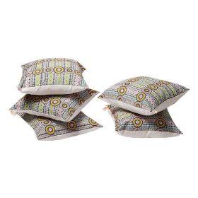 Geometric Print Cushion Cover set of 5
