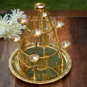 Jhilmil Brass T-Light Holder