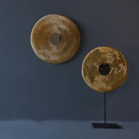 Golden Disc Tabletop Sculpture