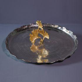 Sterling Aluminium and Iron Round Decorative Tray