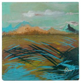 Paddy Field- Canvas Oil Painting