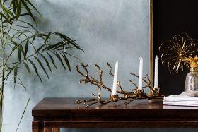 Golden Branch Candle Holder
