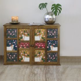 Hand-Painted Pichwai Work Cabinet