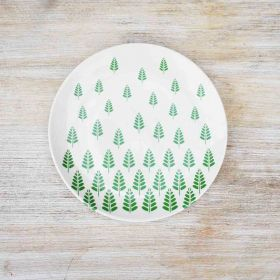Springlife White Ceramic Plate