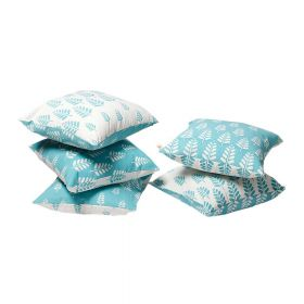 Summer Days Block Print Cushion Cover set of 5