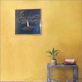 Golden Bendy Tree Wall Art