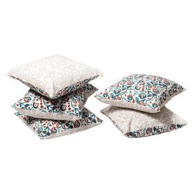 Wardaa Green Block Print Cushion Cover set of 5