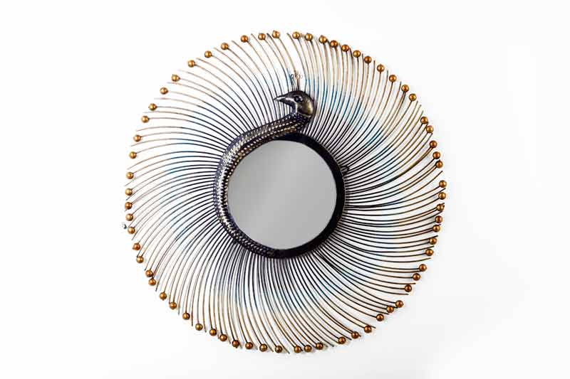 Peacock Wall Mirror by Fanusta