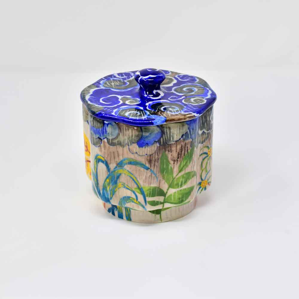 Fanusta Blue Pottery Cotton Canisters