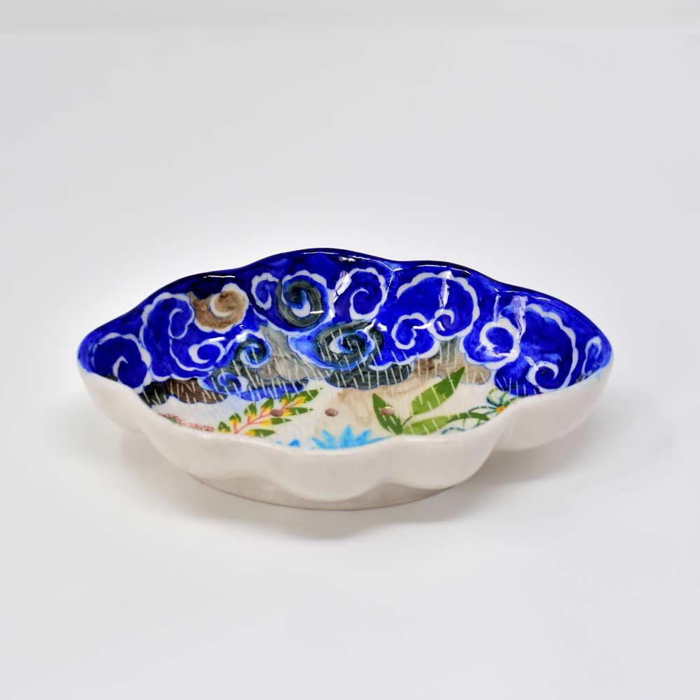Fanusta Blue Pottery Soap Dish