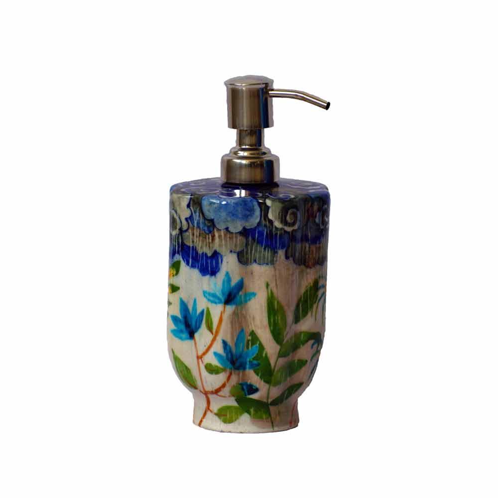 Fanusta Blue Pottery Soap Dispenser