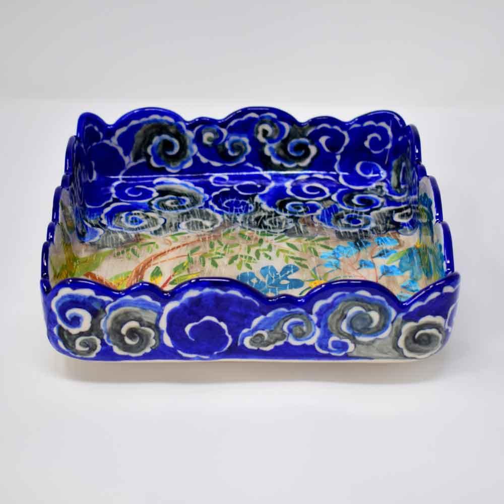 Fanusta Blue Pottery Vanity Tray