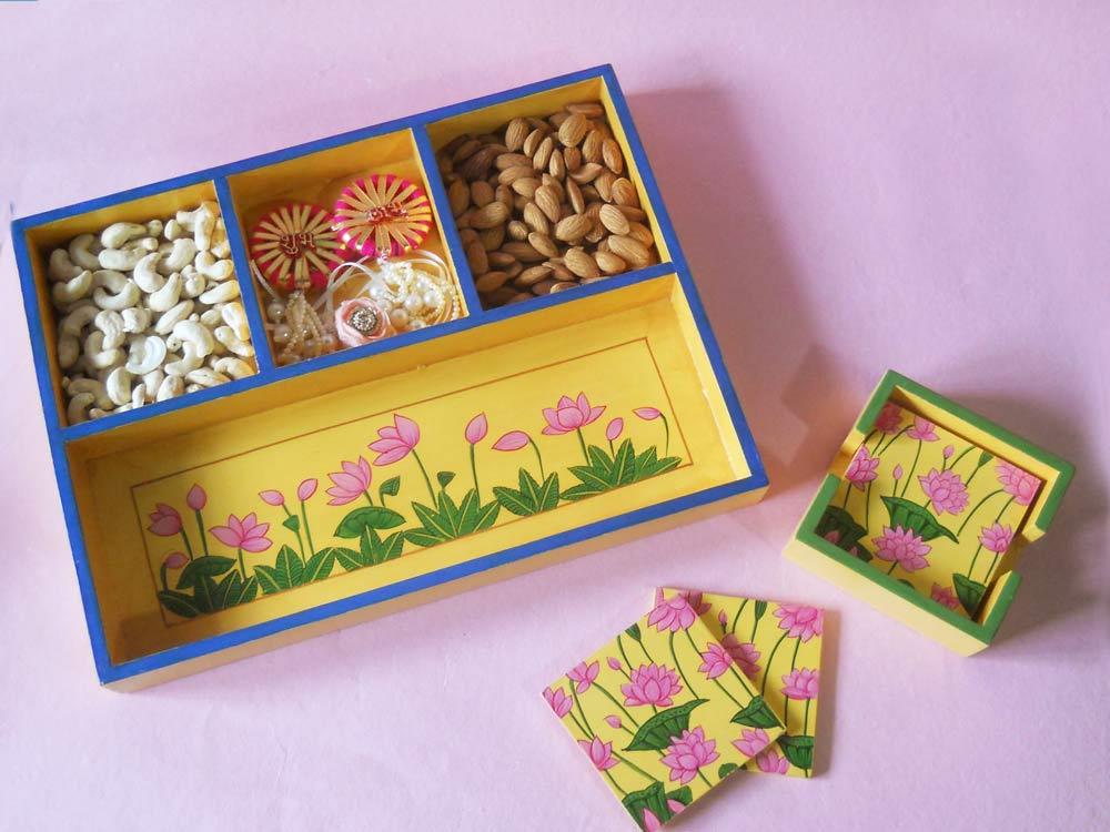 fanusta-handmade-tray-coaster-dry-fruits-rakhi